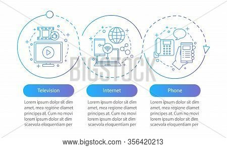 Tv, Internet, Phone Bundle Vector Infographic Template. Communication Services Providers Tariff Plan