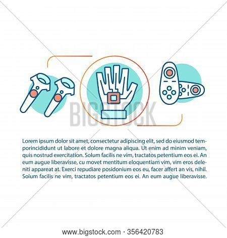 Vr Motion Controllers Concept Linear Illustration. Virtual Reality Devices. Haptic Gloves, Wireless