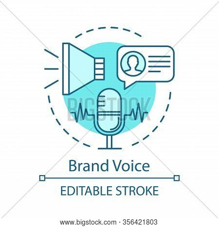 Brand Voice Concept Icon. Branding Idea Thin Line Illustration. Company Brand Reflection. Corporate