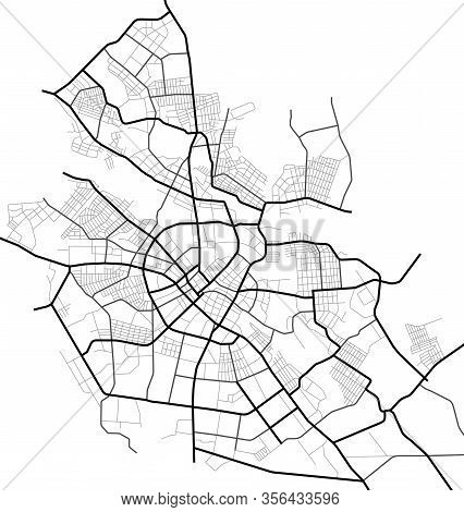 Ivanovo City Map - Town Streets On The Plan. Map Of The  Scheme Of Road. Urban Environment, Architec