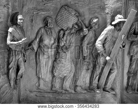 Columbia South Carolina Usa June 23 2016: Details Of Monument To The African-american History From T