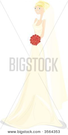 Wedding Girl Illustration