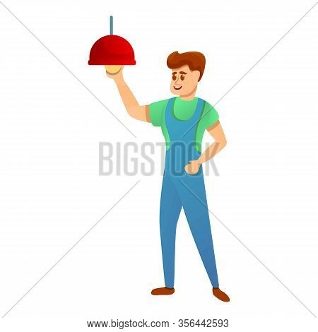 Man Fix Light Icon. Cartoon Of Man Fix Light Vector Icon For Web Design Isolated On White Background