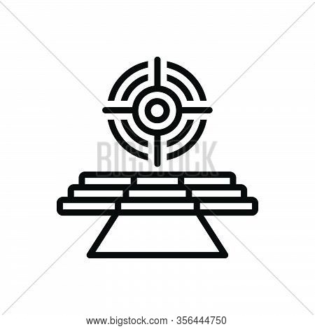 Black Line Icon For Goal Desired-result Aspiration Ambition Target Aim Accurate Dartboard Focus