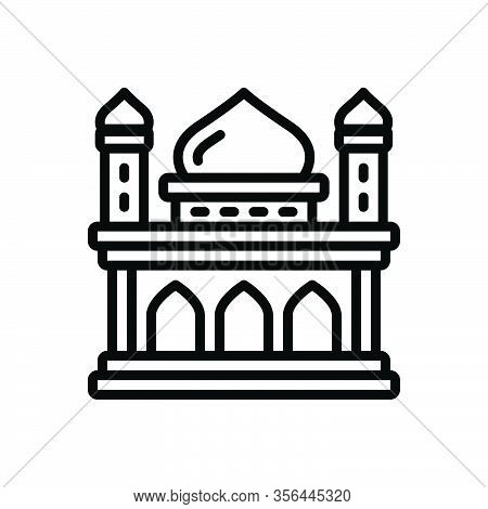 Black Line Icon For Heritage Legacy Inheritance Heirloom Patrimony Ancient Building Architecture Arc