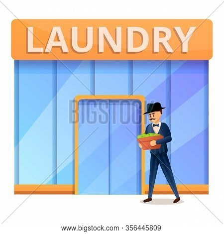 Rich Man In Laundry Icon. Cartoon Of Rich Man In Laundry Vector Icon For Web Design Isolated On Whit