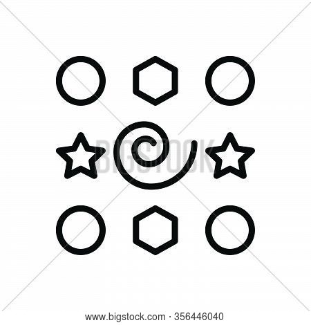 Black Line Icon For Elements Inwardness Part Piece Graphic Shape