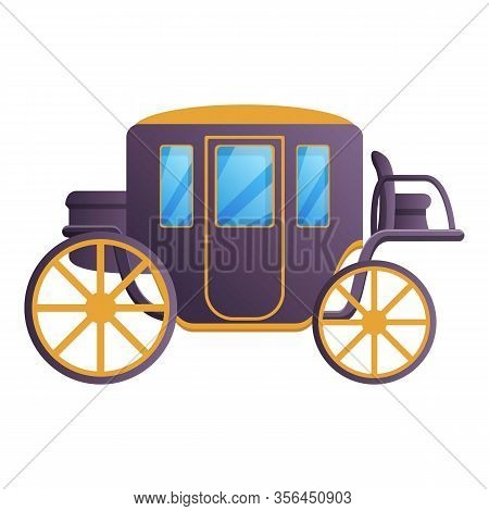 Antique Carriage Icon. Cartoon Of Antique Carriage Vector Icon For Web Design Isolated On White Back