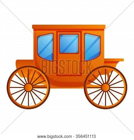 Traditional Carriage Icon. Cartoon Of Traditional Carriage Vector Icon For Web Design Isolated On Wh