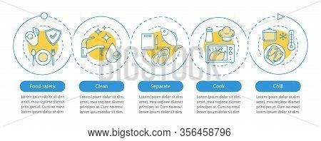 Food Safety Vector Infographic Template. Food Processing, Preparation. Business Presentation Design