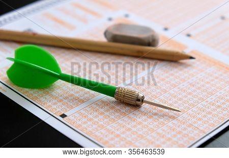 Optical Exam Paper And Dart, Achieving The Goal, Achieving Success,