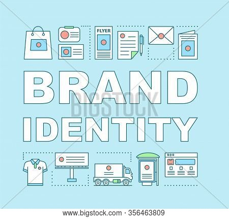 Brand Identity Word Concepts Banner. Templates, Standards For Marketing Materials. Creating Logo. Pr