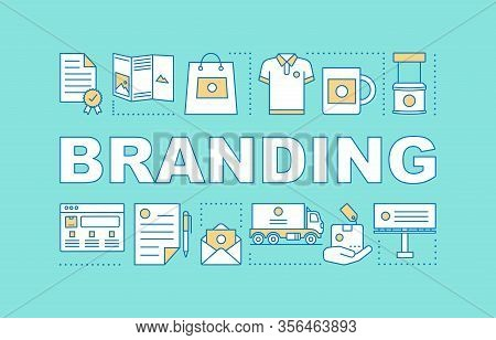 Branding Word Concepts Banner. Brand Management. Strategy Analysis, Planning. Corporate Image. Prese