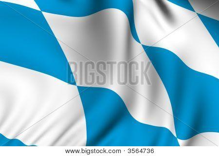 Rendered Bavarian Flag