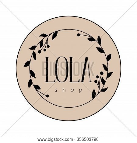Elegant Logo For The Store. Emblem For An Exquisite Clothing Store