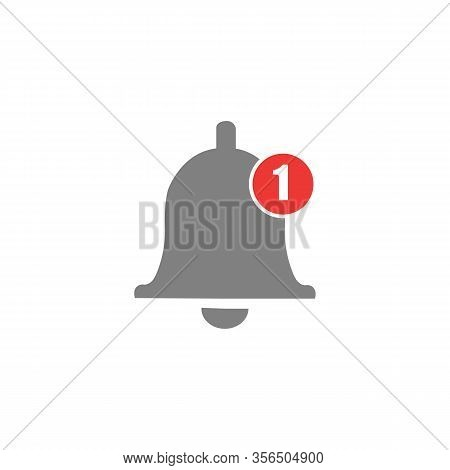 Message Bell Icon. Doorbell Icons For Apps Like Youtube, Alert Ringing Or Subscriber Alarm Symbol