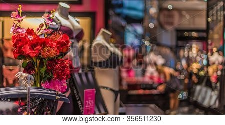 Singapore - Mar 4, 2020: Interior Of Victoria's Secret Store, An American Designer, Manufacturer, An