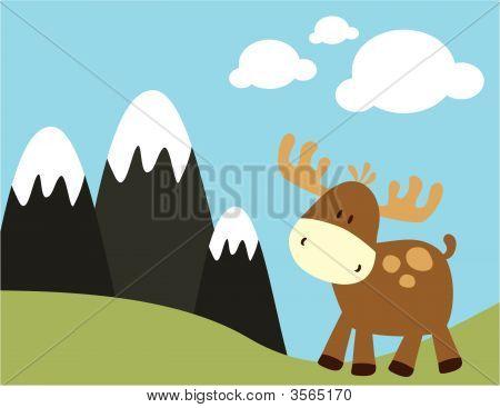 Baby Moose a hory