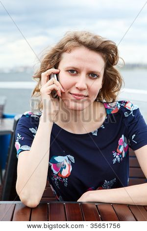 Beautiful Woman With Telephone, Phone Calling