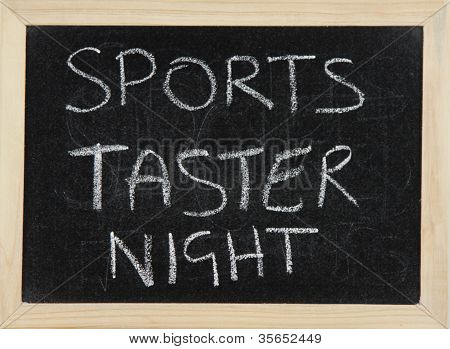 Sports Taster Night.