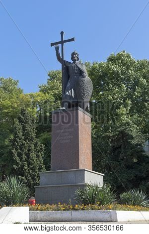 Sevastopol, Crimea, Russia - July 26, 2019: Monument To The Holy Equal-to-the-apostles Grand Duke Of