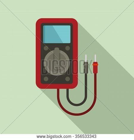 Diagnostic Multimeter Icon. Flat Illustration Of Diagnostic Multimeter Vector Icon For Web Design