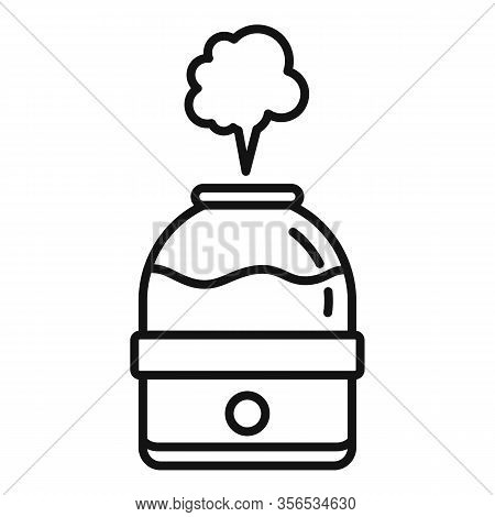 Vapor Air Purifier Icon. Outline Vapor Air Purifier Vector Icon For Web Design Isolated On White Bac