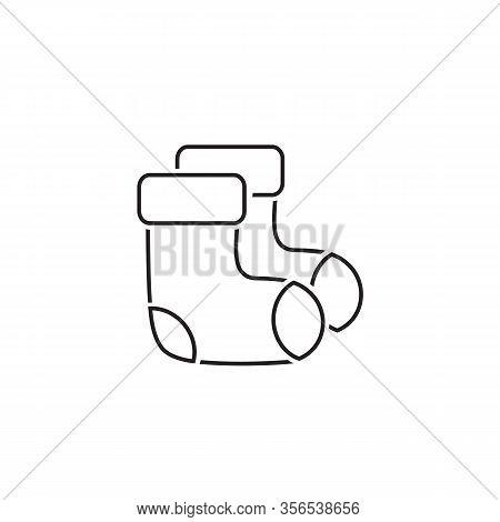 Socks Line Icon. Christmas Socks Vector Illustration. Simple Illustration Of Sock Vector Icon For We