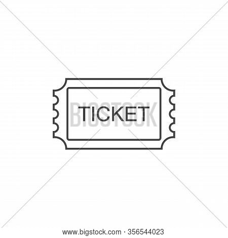 Ticket Line Icon. Pass, Permission Or Admission Symbol, Vector Illustration Logo Template. Presented