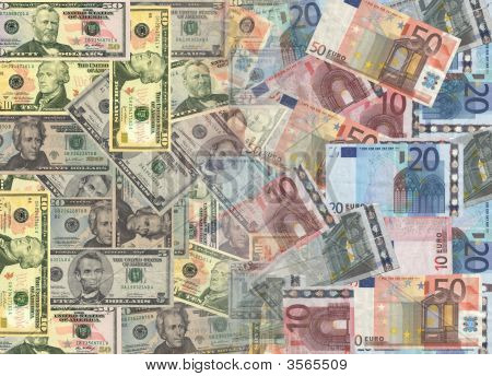 American And Euros Currency