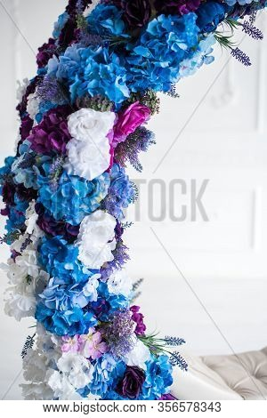 The Lace Flowers In The Decor Of The Round Swing .design Photo Studio.