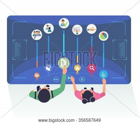 Headhunters Choose Candidates Vector Illustration. Cartoon Human Resources Experts Selecting Applica