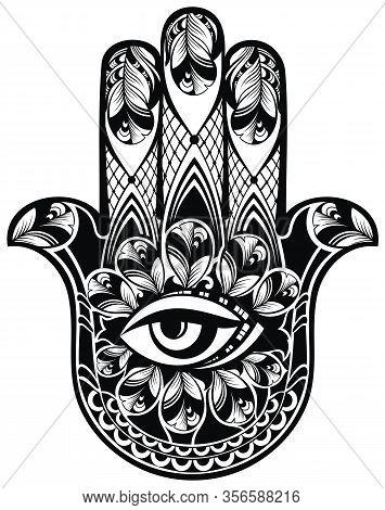 Hamsa, Hand Of Fatima, Vector Illustration For Your Design