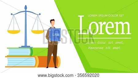 Law Science Degree Web Banner Vector Template. Administrative, Financial, Civil, Labour Law Course F