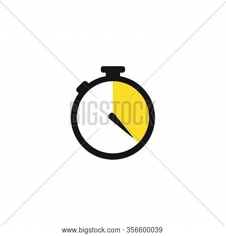 Watch, Time Icon, Clock Icon Vector. Line Drawing. Fast Delivery. Flat Vector