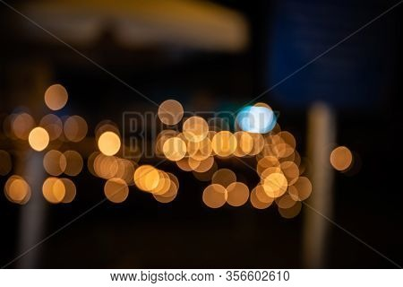 Warm Window Color Bokeh Circles Of Light Scattered Celebration Atmosphere