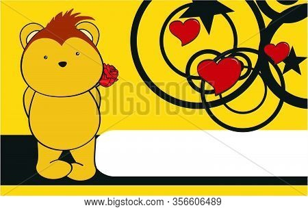 Cute Porcupine Kawaii Cartoon Love Valentine Background In Vector Format Very Easy To Edit