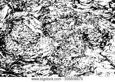 Distressed Overlay Texture Of Rough Surface, Cracked Wood, Tree Bark. Grunge Background. One Color G