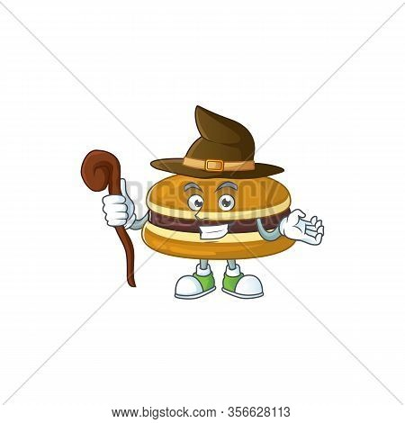 Sweet And Tricky Witch Dorayaki Cartoon Character