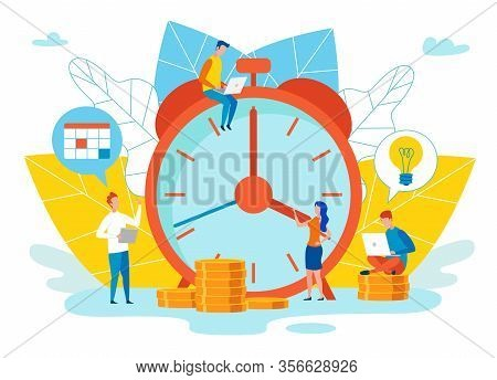 An Objective Assessment Possibilities Deadline. Close Up Alarm Clock. Oyudi Next To Clock Working On