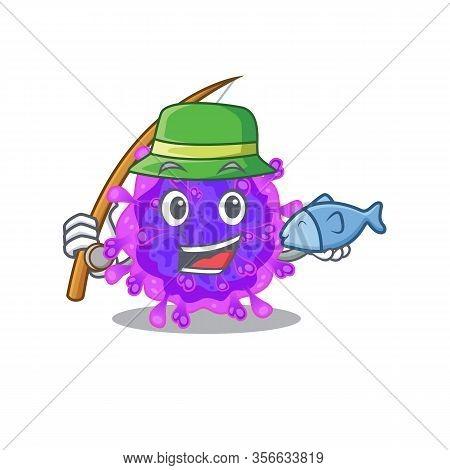 A Picture Of Funny Fishing Alpha Coronavirus Design