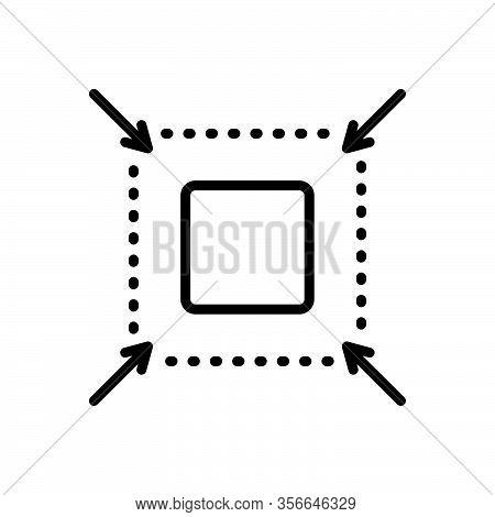 Black Line Icon For Reduce Detract Abate Enhance Change Fullscreen Decrease Diminish Cursor Small