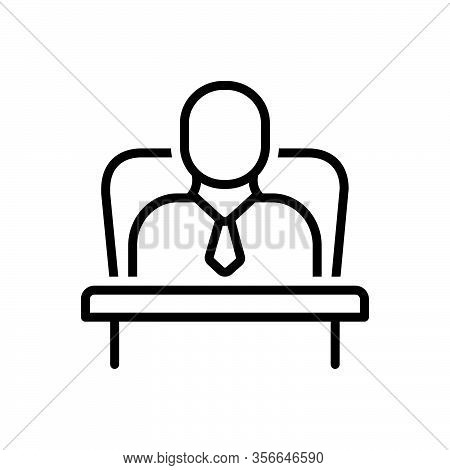 Black Line Icon For Ceo Administrator Executive Business Corporate Boss Leader Professional Staff Ma