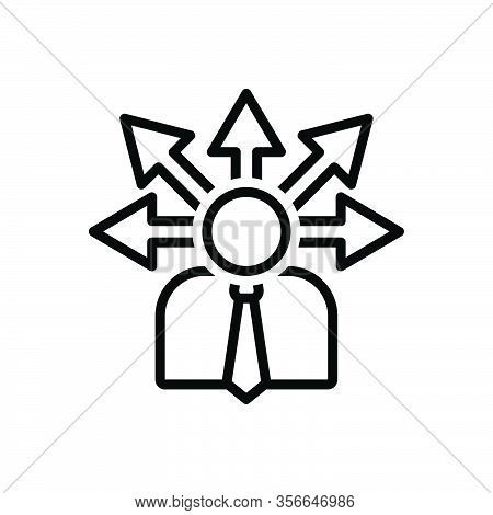 Black Line Icon For Opportunity Chance Lucky-chance Possibility Occasion Arrow Direction Career