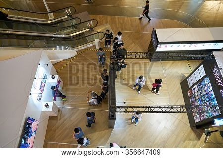 SHENZHEN, CHINA - CIRCA APRIL, 2019: atmosphere at Sony Expo 2019 in Shenzhen, China.