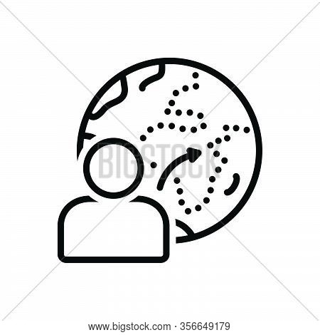 Black Line Icon For Belong Place Environment Be-owned-by Be-the-property-of Be-the-possession-of
