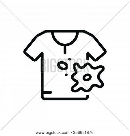 Black Line Icon For Spot Stain Smear Blot Splotch  Cloth Ink Splatter Spatter Bespatter