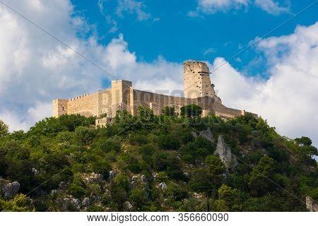Rocca Janula Fortress. Cassino, Italy. Centuries Castle. The Rocca Janula Was For Centuries The Mili