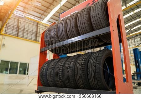Car Tire In Shop,car Tires For Sale At A Tire Store,car Tires Service.