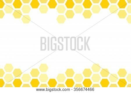 Yellow Honeycomb Background. Honeycomb Pattern. Hexagon Abstract Background Vector Design.